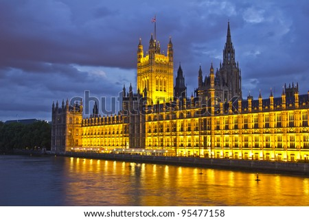 House of Parliament, London, UK - stock photo