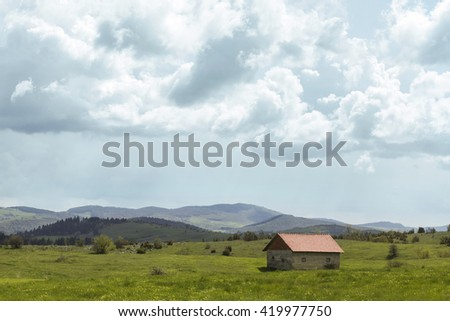 House on the meadow