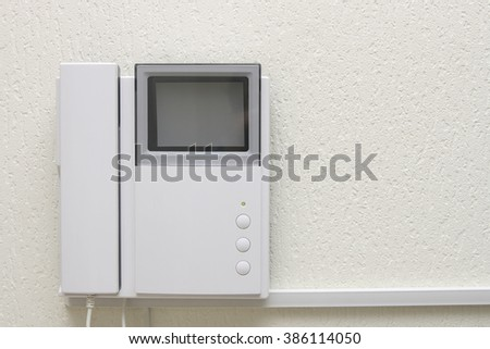 house videophone indoors - stock photo