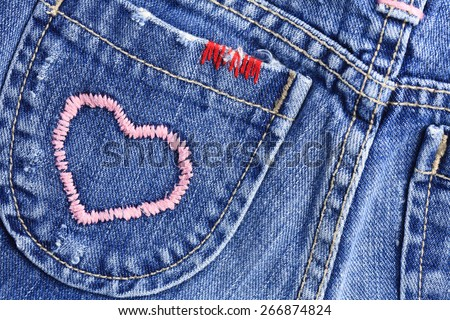 I love blue jeans - stock photo