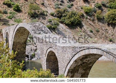 Iasmos Byzantine bridge Greece The Iasmos bridge is the biggest stone bridge of Thrace, situated in the Kompsatos river, between the Iasmos and Polianthos village