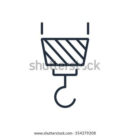 Icon of crane hook - stock photo