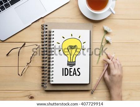 """Idea"" Business concept on office desk - stock photo"