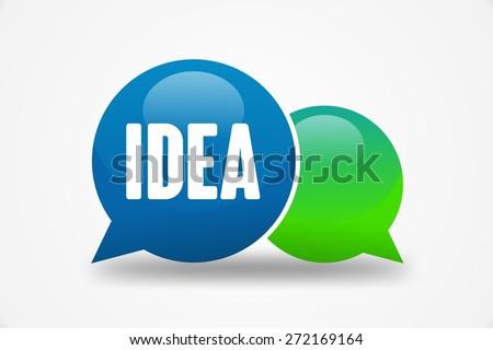 IDEA word on speech cloud - stock photo