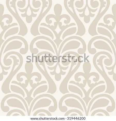 Ikat Damask Seamless Background Pattern - stock photo