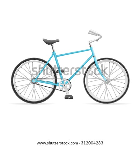 illustration Blue Road Bike isolated on a white background.