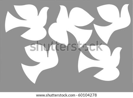 illustration dove - stock photo