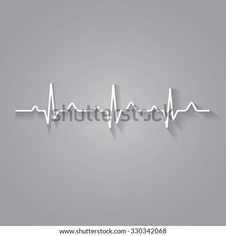 Illustration heart rhythm ekg  - stock photo