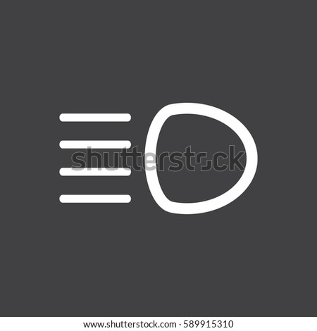 Dipped Beam Dashboard Icon Car Symbol Stock Vector - Car sign on dashboard