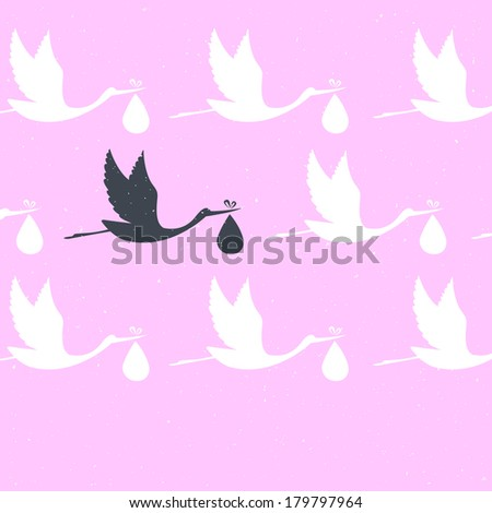 illustration of It's a girl! - stock photo