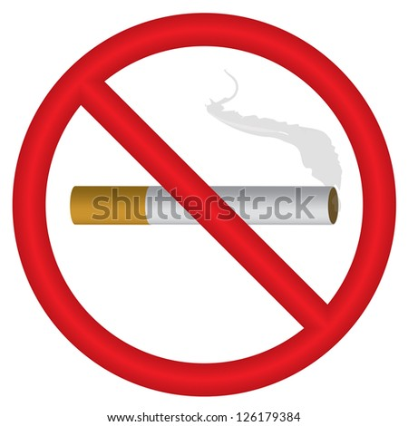 "illustration of ""no smoking"" symbol"