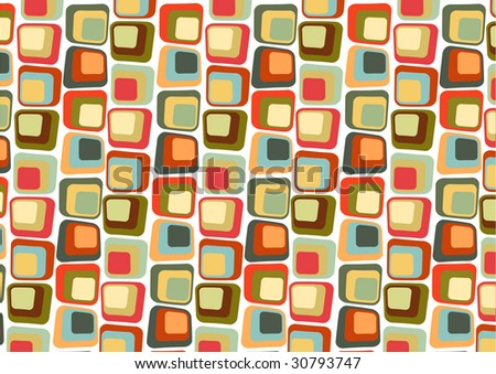 illustration of  Retro styled Abstract  background made of  Candy Squares - stock photo