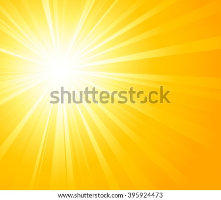illustration Orange summer sun light burst