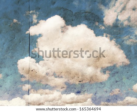 image from paper texture background series with a cloud and paper bad overlay