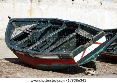 Image of a fishing boat in Morocco
