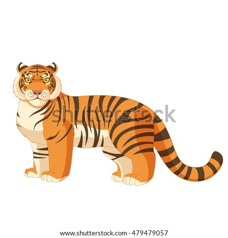 image of the Cartoon standing tiger