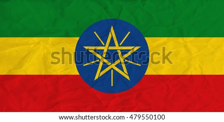 image of the Ethiopia  paper  flag