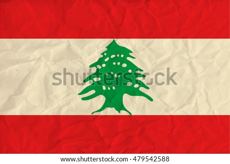 image of the Lebanon  paper flag