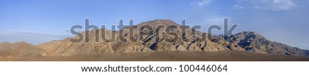 4 image stitch of the Monte Cristo Mountain range in Nevada. - stock photo
