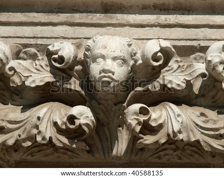 Imperishable beauty of details on the Doge's Palace, Venice,