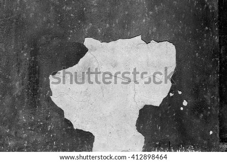 in europe italy old wall and antique contruction   yellow       color - stock photo