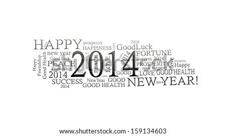 2014 in word collage