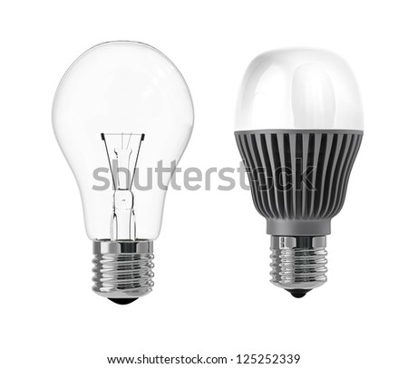 incandescent lamp and LED lamp