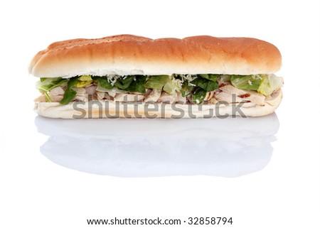 12 inch Chicken Caesar sub - stock photo