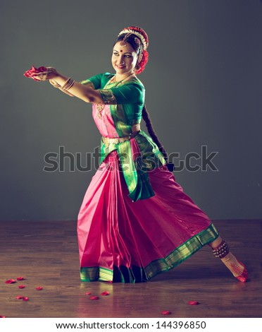 Indian classical dance - stock photo