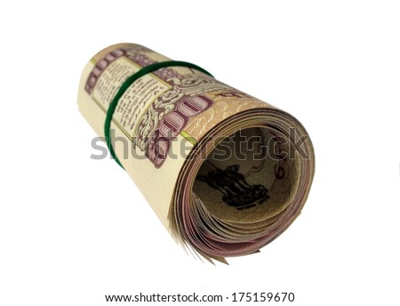 Indian currency Rs 500 notes - stock photo