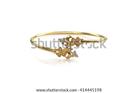 Indian Made Wedding gold bracelets  - stock photo