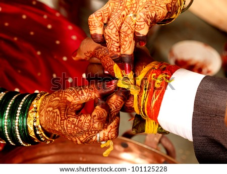 Indian wedding ceremony - stock photo