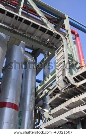 Industrial pipes on a factory infrastructure