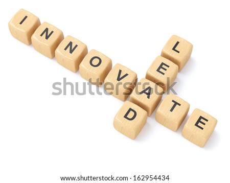 Innovate and Lead crosswords - stock photo