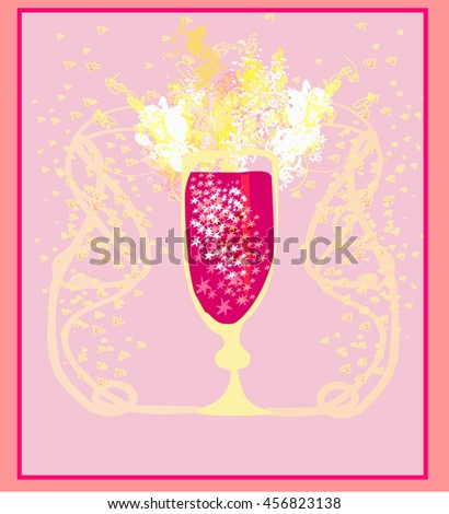 Invitation To Birthday Cocktail Party  - stock photo