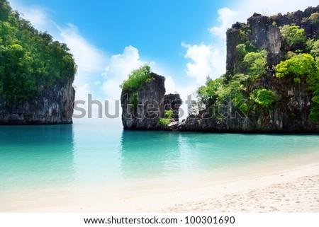 island in Thailand - stock photo