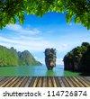 island in thailand, ko tapu - stock photo