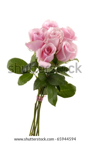 isolated bouquet of roses - stock photo