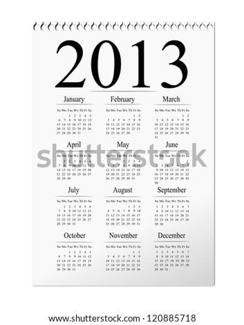 2012 isolated calendar illustration. - stock photo