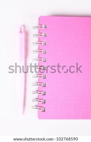 isolated pink agenda - stock photo