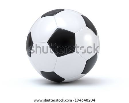 Isolated soccer - stock photo