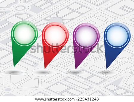 isometric city map background - stock photo