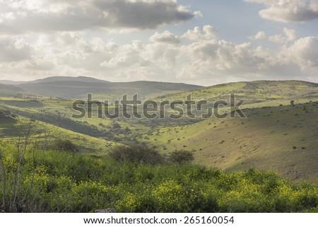 Israel's Tiberius, Kinneret Lake landscape - stock photo