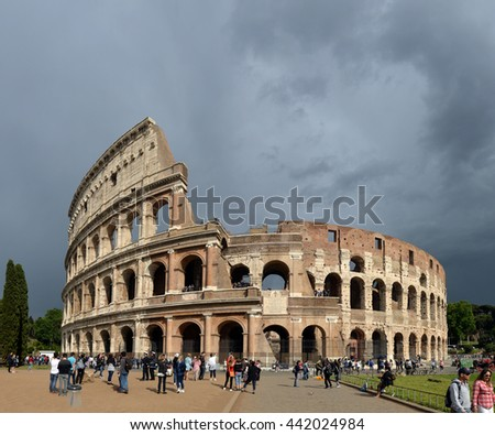 .ITALY, ROMA, 05, MAY, 2016, Colosseum (Coliseum) in Rome, Italy.ITALY, ROMA, 05, MAY, 2016 - stock photo