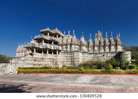 Jain Temple in Ranakpur, Pali District, Udaipur, Rajasthan, India, Asia - stock photo