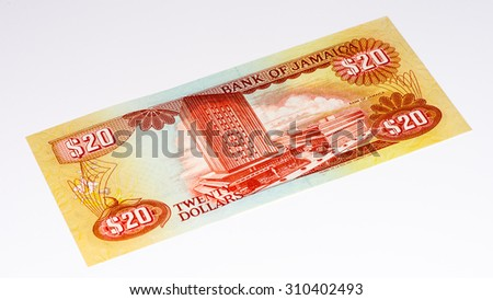 20 Jamaican dollars.  Jamaican dollars is the national currency of Jamaica