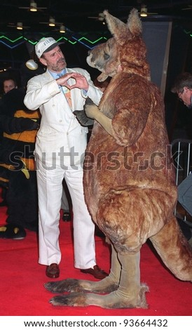 """16JAN97:  Actor JOHN CLEESE at the World Premiere of his new movie, """"Fierce Creatures,"""" in which he stars with Jamie Lee Curtis & Kevin Kline.   Pix: PAUL SMITH - stock photo"""