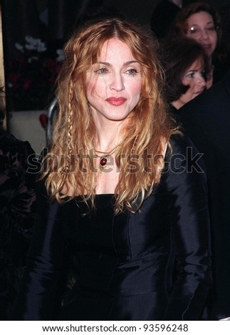 18JAN98:  Actress/pop star MADONNA at the Golden Globe Awards. - stock photo