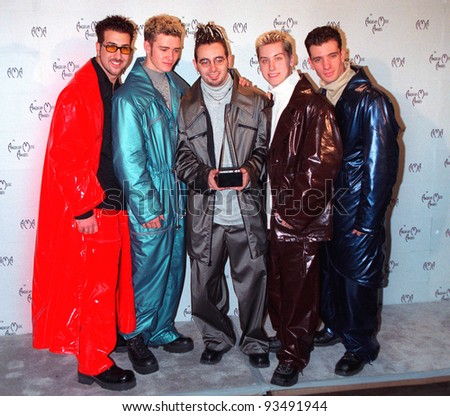 11JAN99:  Pop group N' SYNC at the American Music Awards in Los Angeles.  Paul Smith / Featureflash - stock photo