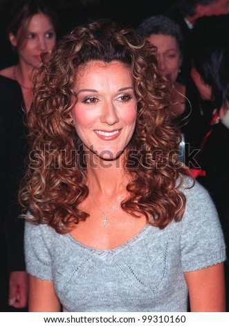 10JAN99:  Singer CELINE DION at the 25th Annual People's Choice Awards in Pasadena, California.  She won for favorite female musical performer.  Paul Smith / Featureflash - stock photo